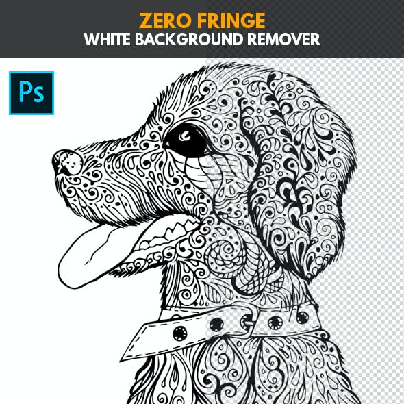 Zero Fringe White Background Remover - Photoshop Action