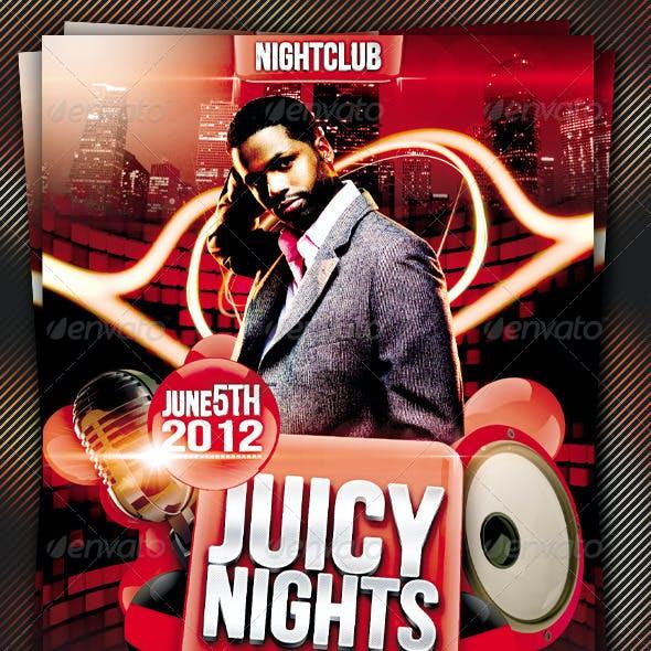 Juicy Nights Flyer Template Vol.3