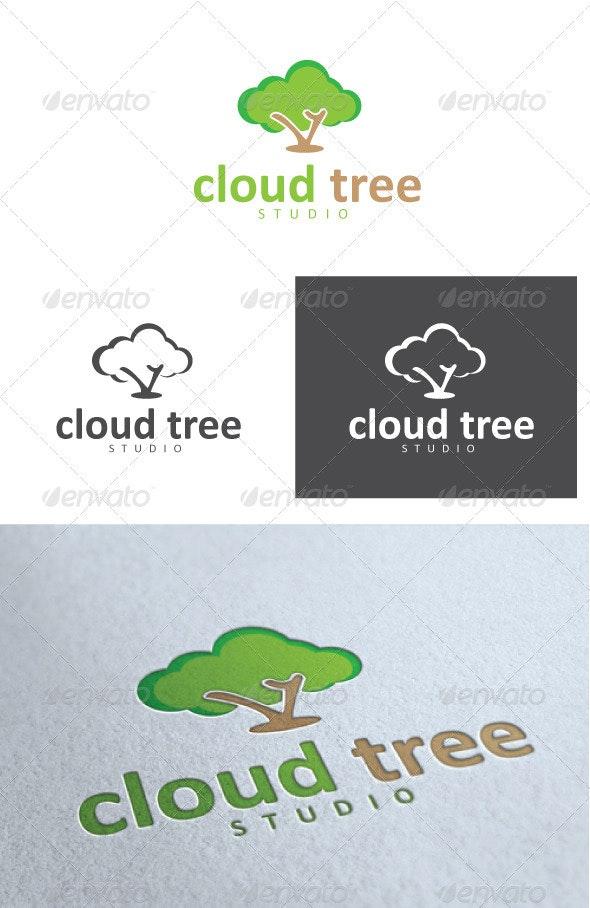 Cloud Tree Studio Logo - Nature Logo Templates