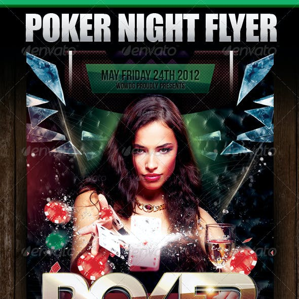 Poker Nights Party Flyer