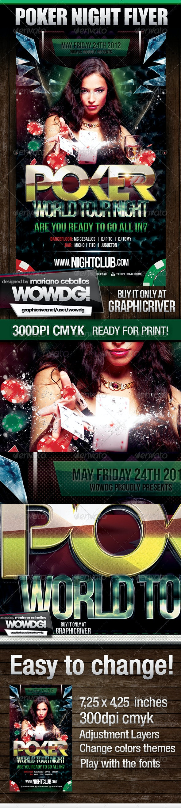 Poker Nights Party Flyer - Flyers Print Templates