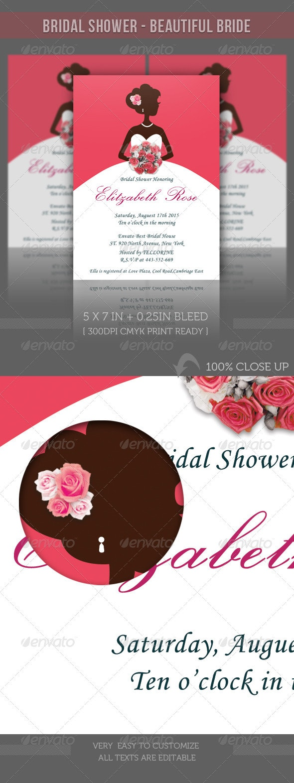 Bridal Shower Invitation - Beautiful Bride - Weddings Cards & Invites