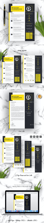 Minimalist Clean Resume Cv Template By Resumeinventor