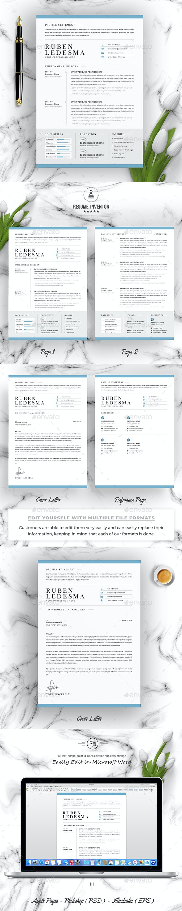 Cover Letter For A Resume Template from graphicriver.img.customer.envatousercontent.com