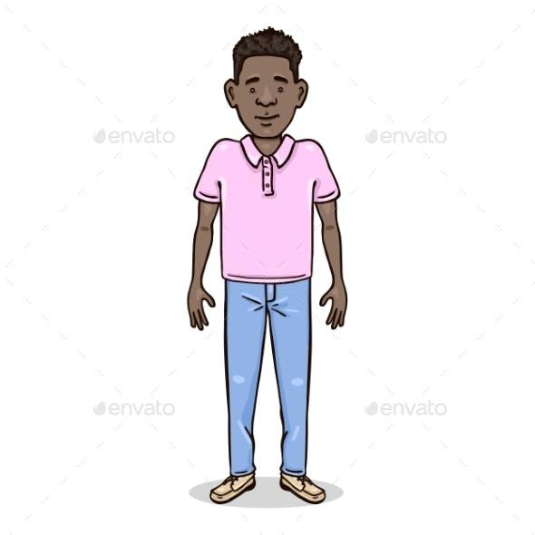 Vector Cartoon Color Character