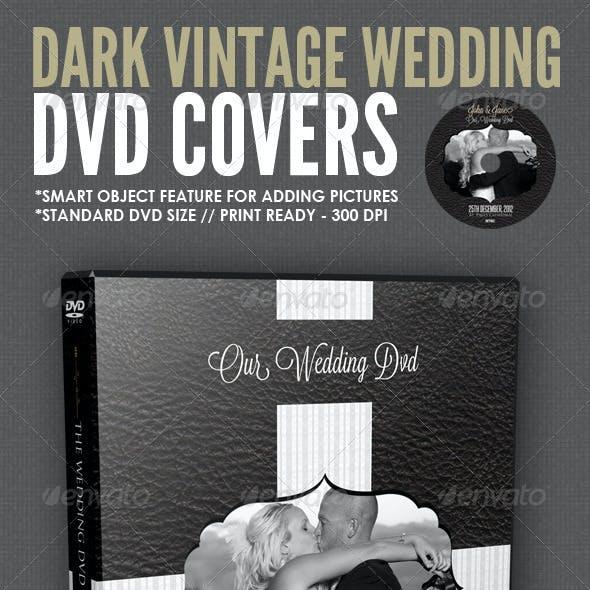 Dark Vintage Wedding DVD Cover Template