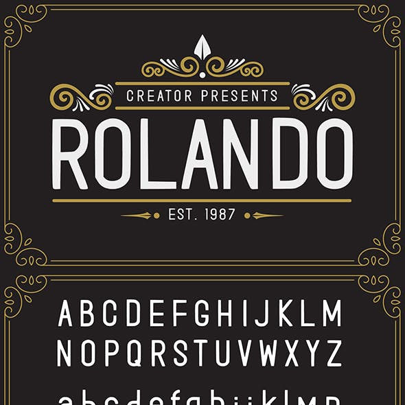 Rolando Vintage Font