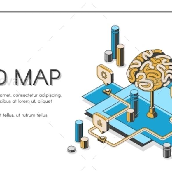 Mind Map Visual Thinking Tool Isometric Landing