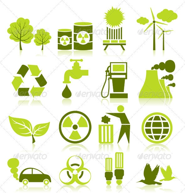 Icon ecology - Web Elements Vectors