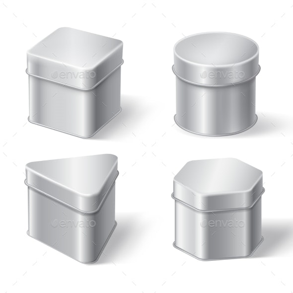 Metal Tin Boxes for Coffee Tea or Candies - Food Objects