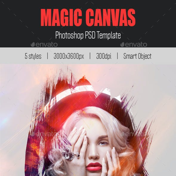 Magic Canvas PSD Template
