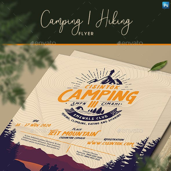 Camping / Hiking Flyer