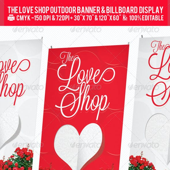 Gift Store Outdoor Banner & Billboard Design PSD