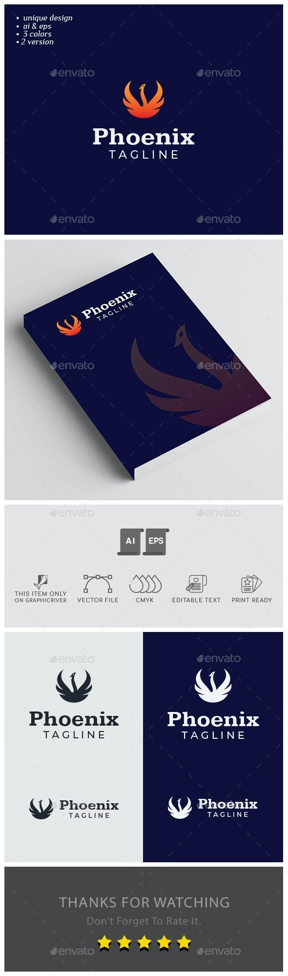 Phoenix Logo Design - Animals Logo Templates