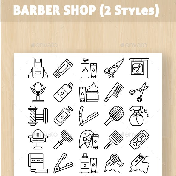 Barber Shop Iconset