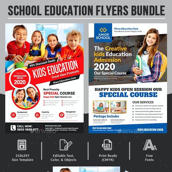 School Education Flyers Bundle Templates