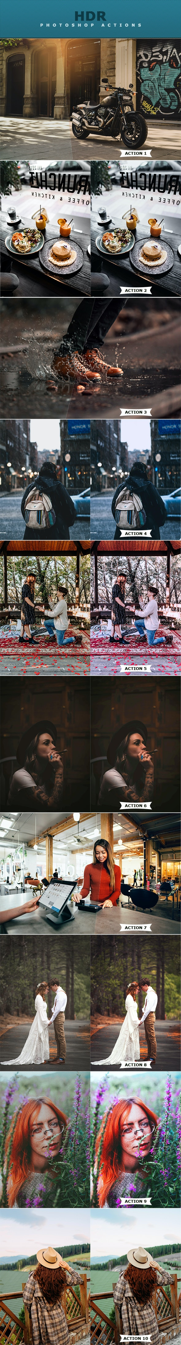 HDR Photoshop Actions - Photo Effects Actions