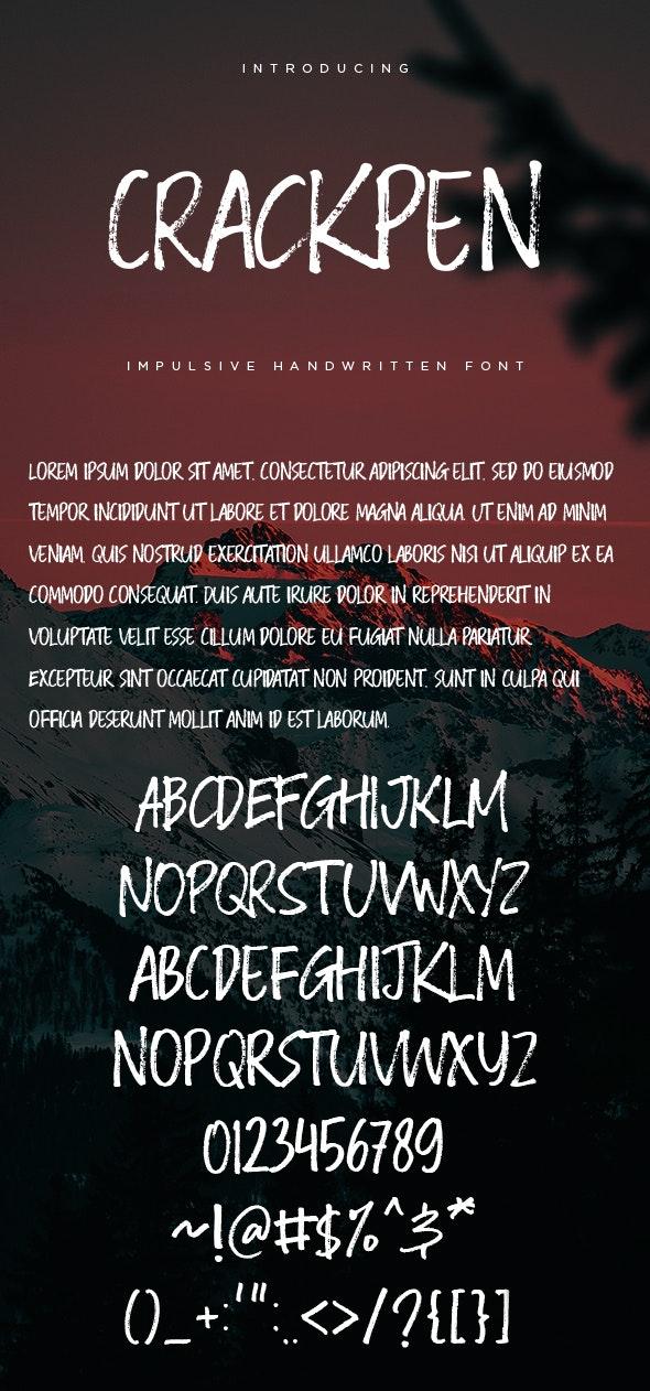 Crackpen - Impulsive Handwritten Fonts - Hand-writing Script