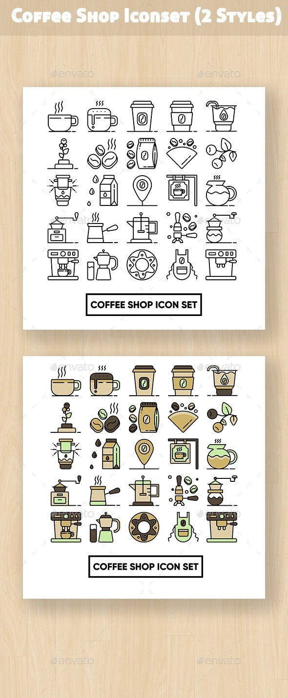 Coffee Shop Iconset - Business Icons