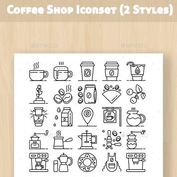 Coffee Shop Iconset