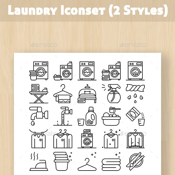 Laundry Shop Iconset