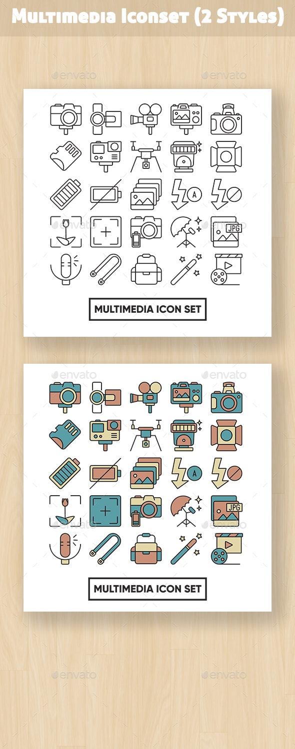 Multimedia Iconset - Media Icons