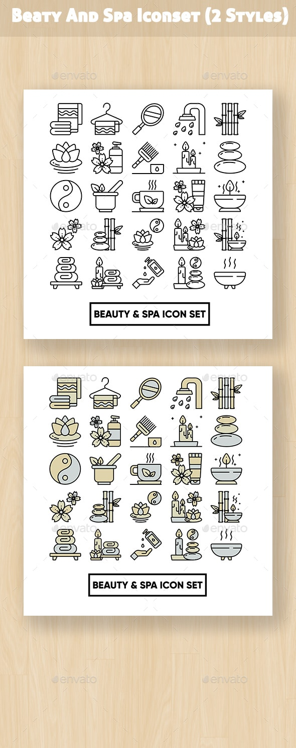 Beauty And Spa Iconset - Business Icons
