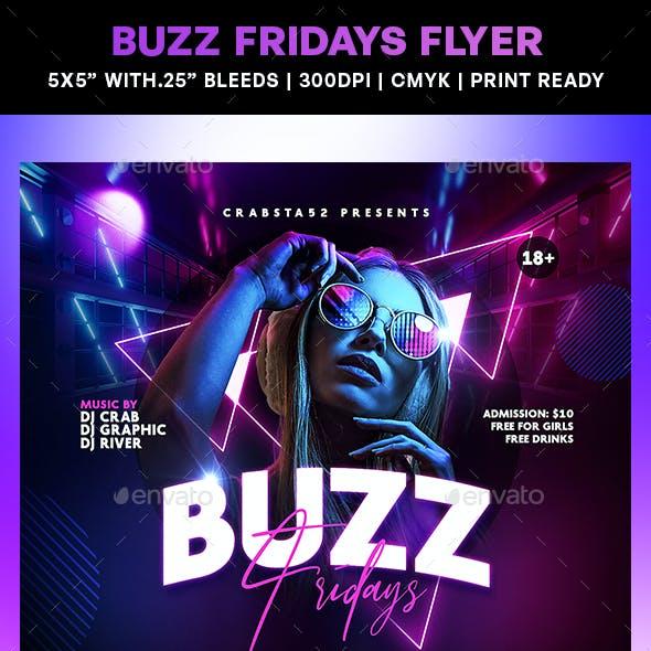 Buzz Fridays Flyer