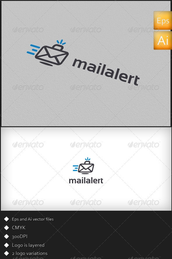 Mail Alert - Logo Template - Symbols Logo Templates