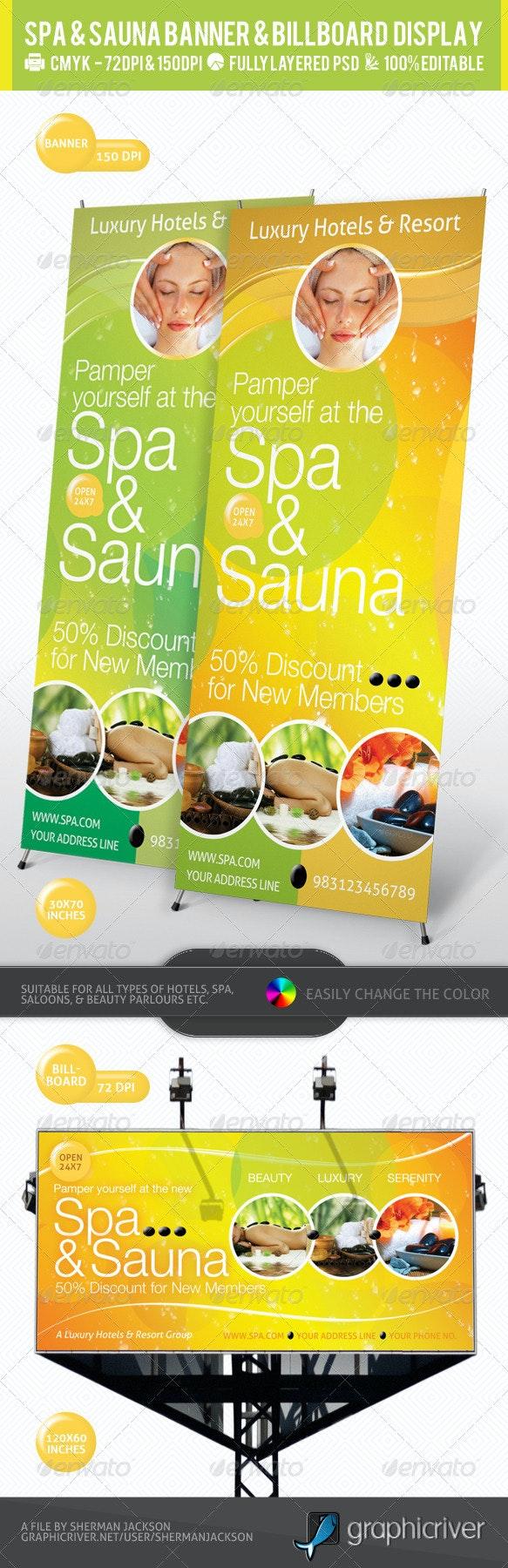 Spa & Sauna Multipurpose Banner & Billboard PSD