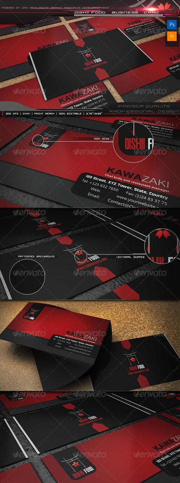 Oishii Food business card v2 - Business Cards Print Templates