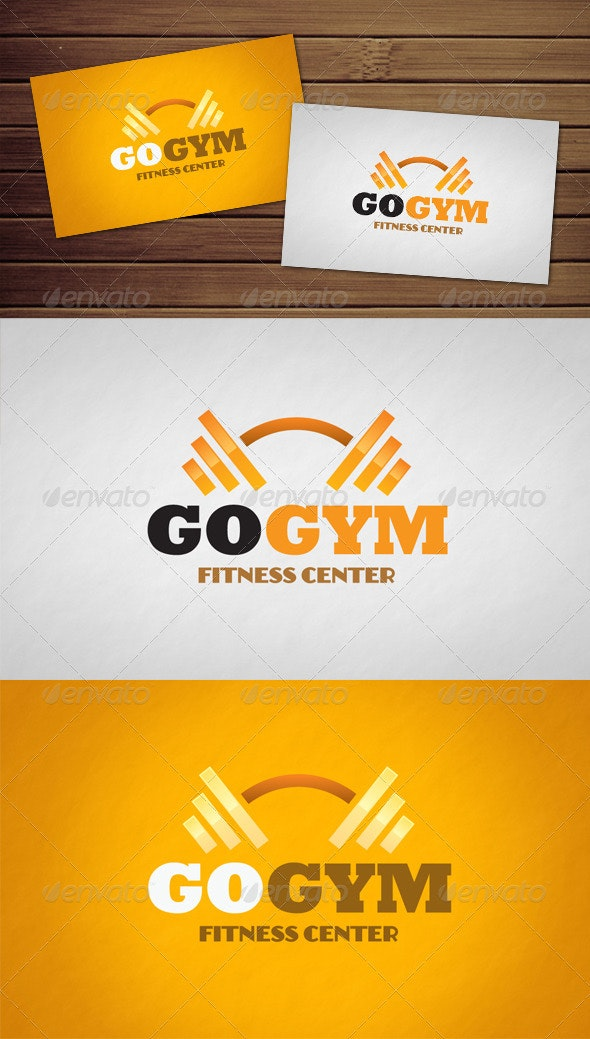 Go Gym Logo - Objects Logo Templates