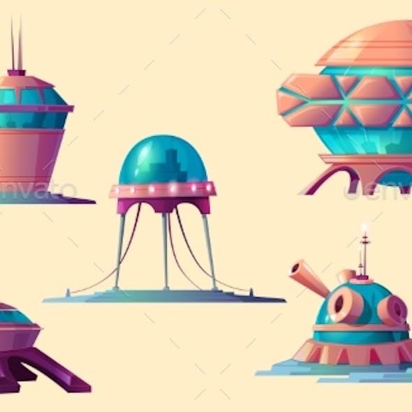 Space Colonization Cosmic Base Elements Set