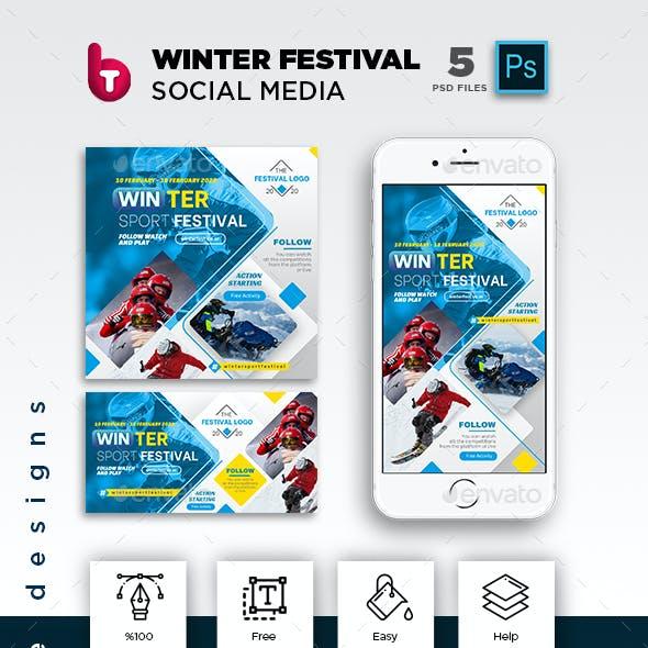 Winter Sport Festival Social Media Pack