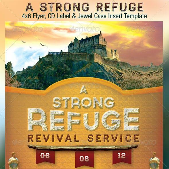 Strong Refuge Church Flyer CD Template