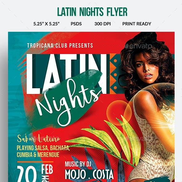 Latin Night Party Flyer