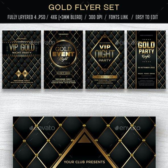 Gold Flyer Set