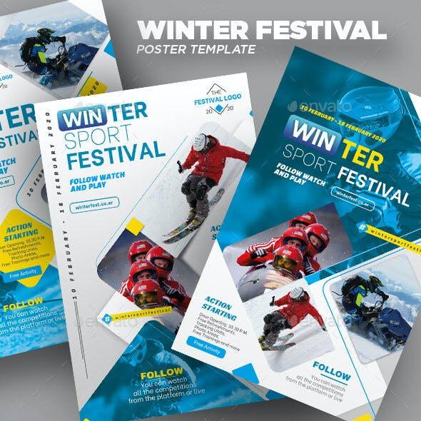 Winter Sport Festival Poster