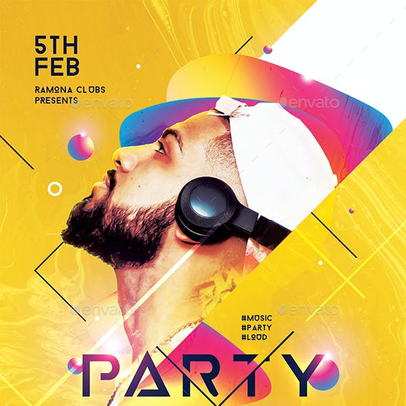 Creative Party Night Flyer