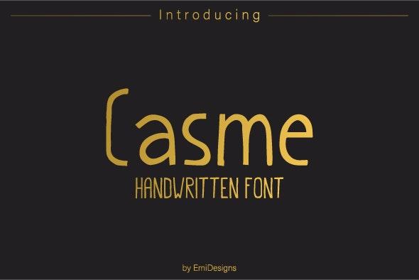 Casme Handwritten Font - Hand-writing Script