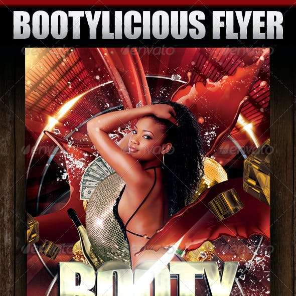 Bootylicious Party Flyer