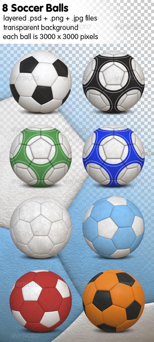Soccer Balls - Objects 3D Renders