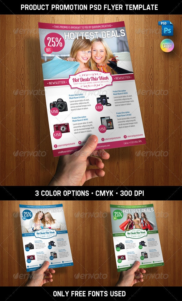 Product Promotion PSD Flyer Template - Commerce Flyers