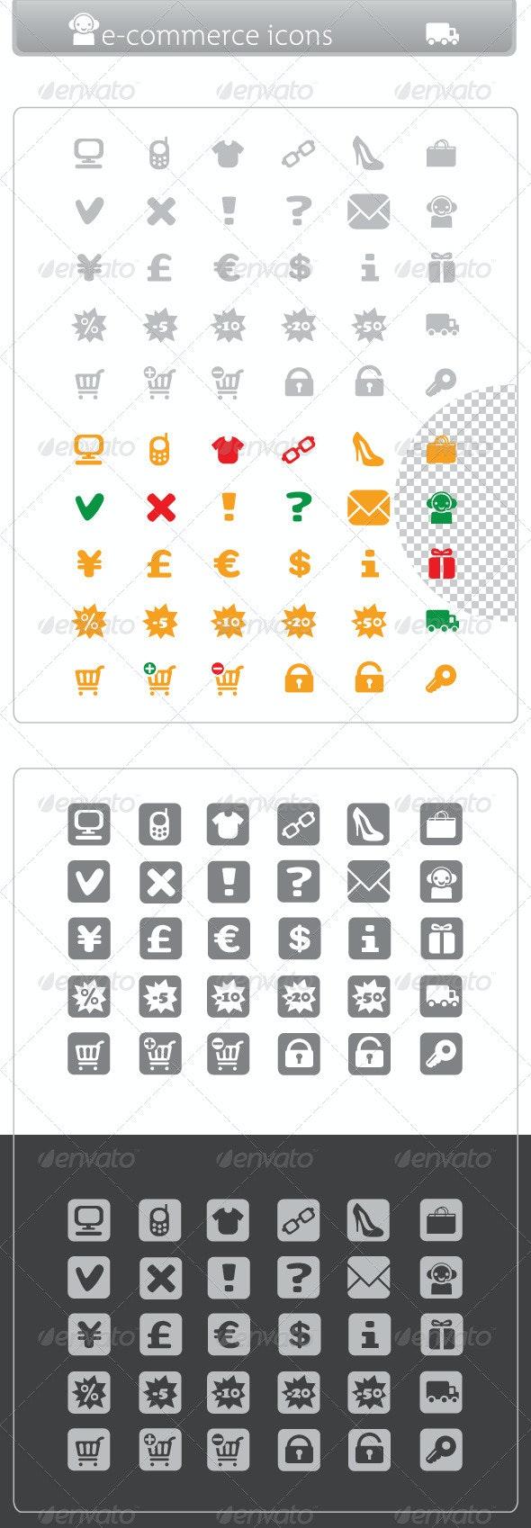 Minimalist E-commerce Icons - Web Icons