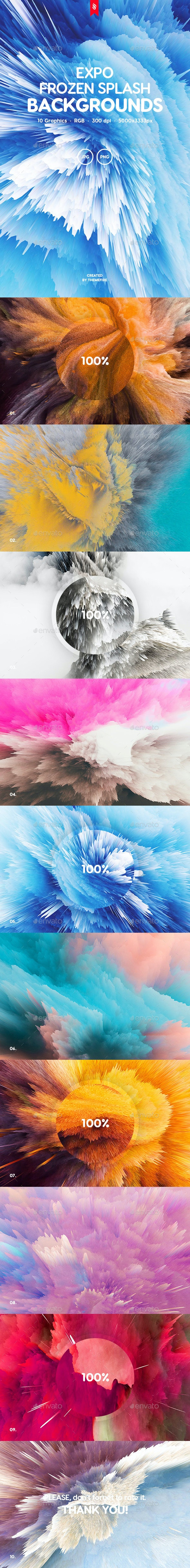 Expo - Frozen Splash Backgrounds - Tech / Futuristic Backgrounds