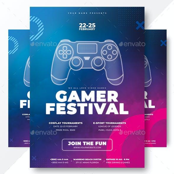 Gamer Fest Flyer