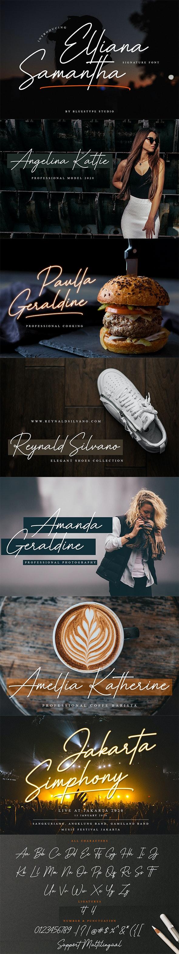 Elliana Samantha - Hand-writing Script