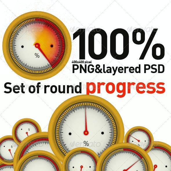Set Of Round Progress
