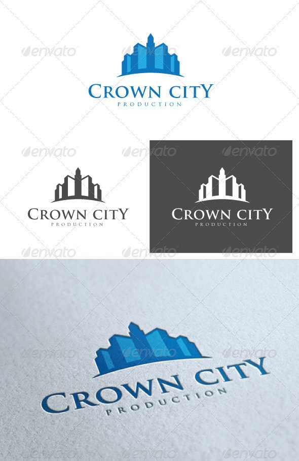 Crown City Logo - Buildings Logo Templates