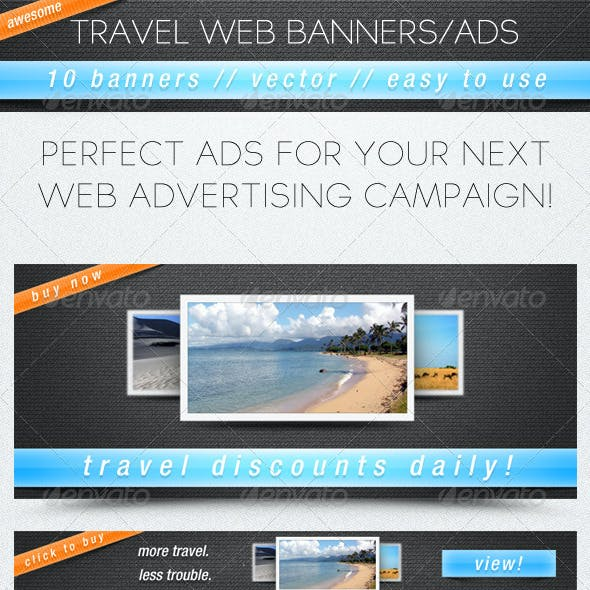 Travel Web Banners/Ads